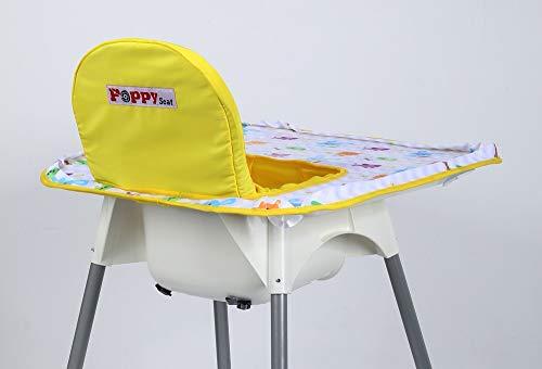 Housse de chaise haute – Coquelicot (animal jaune)