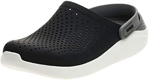 Crocs Unisex Adult LiteRide Clog Athletic Slip On Comfort Shoes Black Smoke 9 M US Women 7 M product image