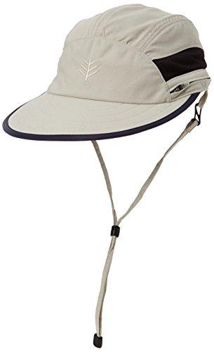 Coolibar Chapeau UPF 50 + UV résistant au Chlore Ultra Sport Hat –, Pierre, Taille 14/M