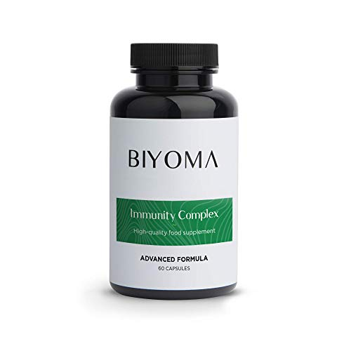 BIYOMA - Immunity Complex is Immune System Booster Vitamins with Bovine Colostrum. Rich in Growth Factors, immunoglobulins, probiotics & Digestive enzymes. (60 Day Supply 60 Caps)