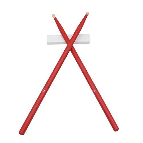 5A Drum Sticks Ahorn-Holz-Sticks Musikinstrument Zubehör (Color : Red)