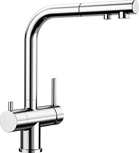 BLANCO FONTAS-S II Filter - Küchenarmatur mit integriertem Wasserfilter und ausziehbarem Auslauf - Chrom - 525229