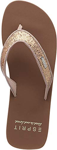 ESPRIT Damen Glitter Thongs Pantoletten, Beige (Cream Beige 295), 40 EU