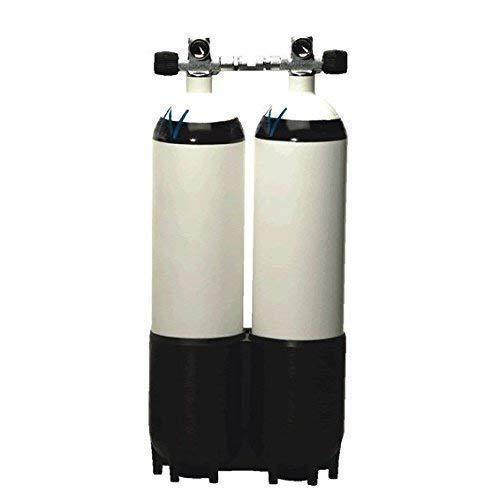 Euro cilindro doble-botella de acero 10 Liter 300Bar tubo de puente