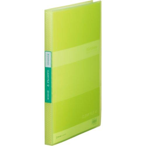 キングジム クリアーファイルミニ シンプリーズ 184TSPW A4S 40P 黄緑