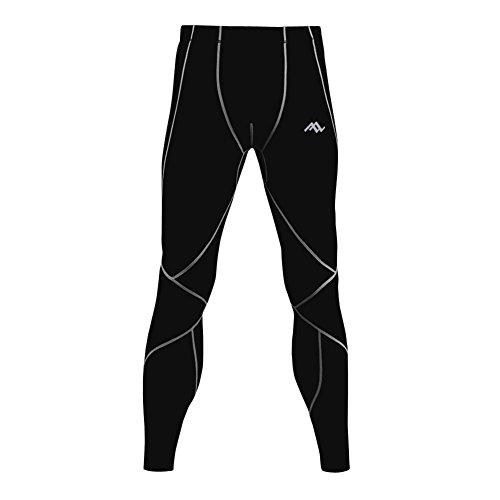 passwin mallas de deporte para hombre Base Layer de compresión pantalones largos