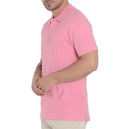 El Búho Nocturno - Polo Classique pour Homme | Polo Sport Golf, Tennis, Paddle - Lisse, sans Poche - Taille M - Rose