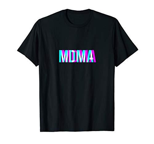 MDMA 3D Font Ecstasy Molly Emma Drogen Geschenkidee Druffi T-Shirt