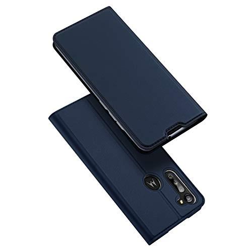DUX DUCIS Hülle für Moto G8 Power, Leder Klappbar Handyhülle Schutzhülle Tasche Hülle mit [Kartenfach] [Standfunktion] [Magnetisch] für Motorola Moto G8 Power (Blau)