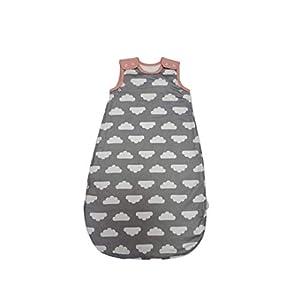 Mama Designs Babasac – Saco de dormir para bebé (0 a 6 meses, incluye 1,0 y 2,5 tog, diseño de nubes