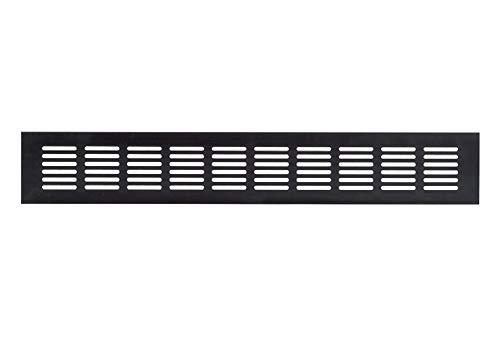 60x300mm Aluminium Lüftungsgitter Dunkelbraun Stegblech Lüftung Alu-Gitter Gitter Möbelgitter Möbellüftung