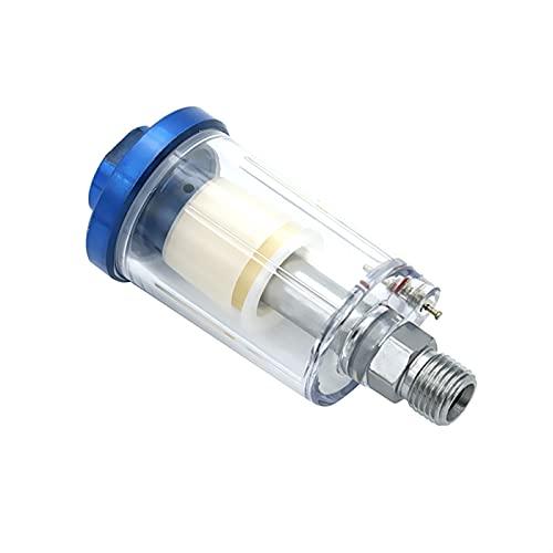 HWNGDI 1 unids Hot 1/4 '' Separador de aceite de agua En línea para el compresor Pistola de pintura aerosol Filtro de manguera de aire Trampa de humedad Fácil de instalar