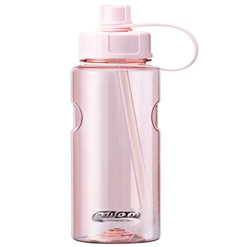 ZYS Práctica Botella de Agua Botellas de Agua 1000ml con la manija y StrawDrinks de Botella sin BPA Sport, for Running Gimnasio al Aire Libre y el día a día de Uso Regalo Ideal