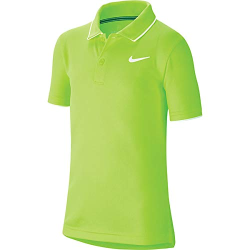 NIKE B NKCT Dry Polo Team Short Sleeve, Niños, Ghost Green/White/White, L