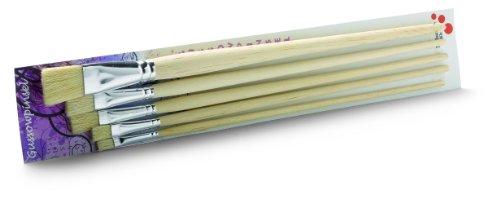 Schuller Eh'klar Borstenpinsel Gussowpinsel Set lang 5-teilig Größen 6, 8, 12, 14 und 20, 75019
