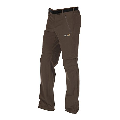 Regatta Herren Outdoor-Zip-Off-Hose Funktionshose Xert Stretch Z/O II RMJ176, Farbe:Seal Grey/Grau, Größe:D 106 (Lange Beinlänge)