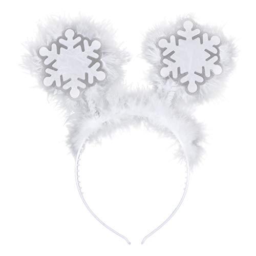 Amosfun Diadema de copo de nieve de Navidad, diadema para disfraz de fiesta de Navidad, para niñas