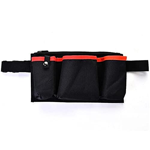 Bolsa de Cinturón de Herramientas Hombre Herramienta de jardinería Bolso de cintura Fanny Pack Ajustable Belt Bel Bolso Hip BUM Monedero Conveniencia para Usar ( Color : Black , Size : 25 x 4 x 18cm )