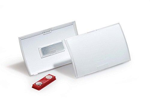 Durable 821519 Namensschild Click Fold mit Magnet (54 x 90 mm) Packung à 10 Stück