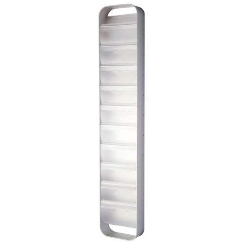 reisenthel redondo Zeitschriftenständer aluminium semi transparent 27,5 x 145 x 10 cm