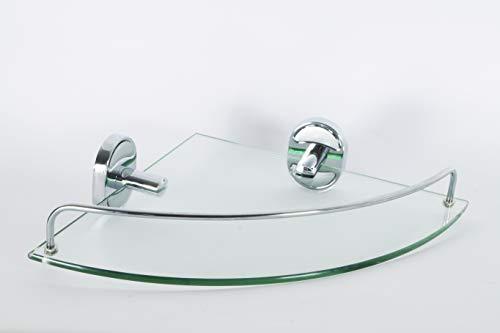 takestop® repisa Angular esy 52020de Cristal de Almacenamiento de Ducha de baño...