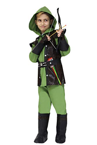 Pegasus Vestito Costume Maschera di Carnevale Bambino - Robin Hood - Taglia 10/11 Anni - 123 cm