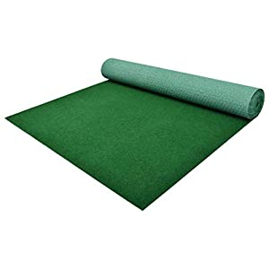 Festnight Césped Artificial Tipo Alfombra o Estera de Hierba Sintética de Exterior para Jardín y Terraza 2x1 m Verde