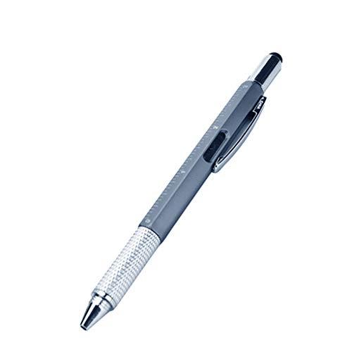 Bolígrafo multifunción 6 en 1 con rodillo, punta de bola, punta de destornillador, herramienta multifunción para hombres y mujeres
