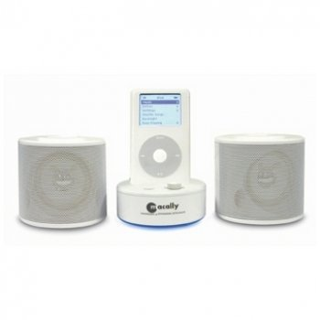 Macally Stereo speakers, charger for iPod/iPod mini/iPod photo, UK power adapter 2W...