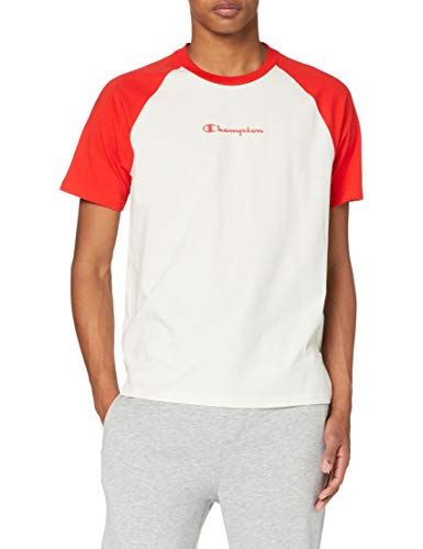 Champion Men's Seasonal Raglan T-Shirt Camiseta, Red (Ww011), S para Hombre