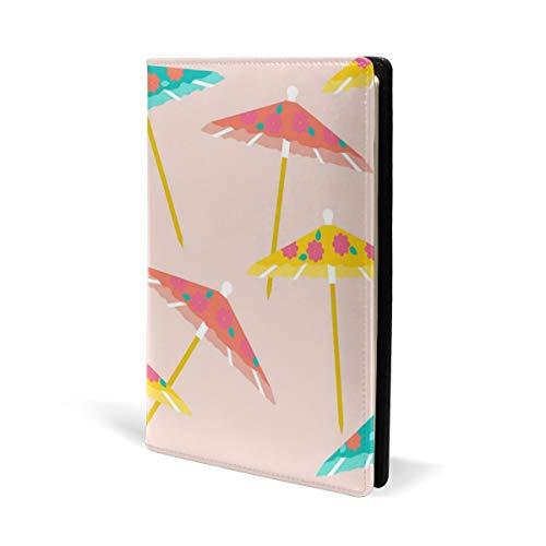 COOSUN Kleurrijke Paraplu's Patroon Lederen Boek Cover Boek Sox Fit Meest Hardcover Handboeken 5.8