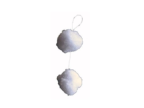 Schneeballgirlande aus Schneewatte, bestehend aus 30 S,chneebällen, Durchmesser je Schneeball 4 cm, Länge: 1,80 m, Winterdekoration, Schneeimitat