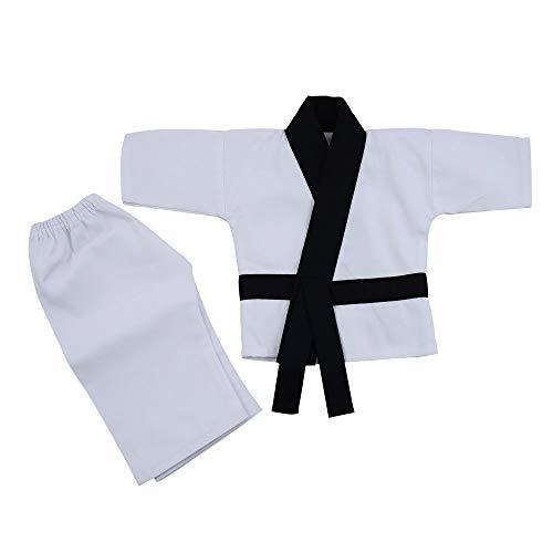 Playwell Artes Marciales Regalos - Taekwondo Bebé Karate Uniforme (Niño Traje) - Blanco, 6-12 Months