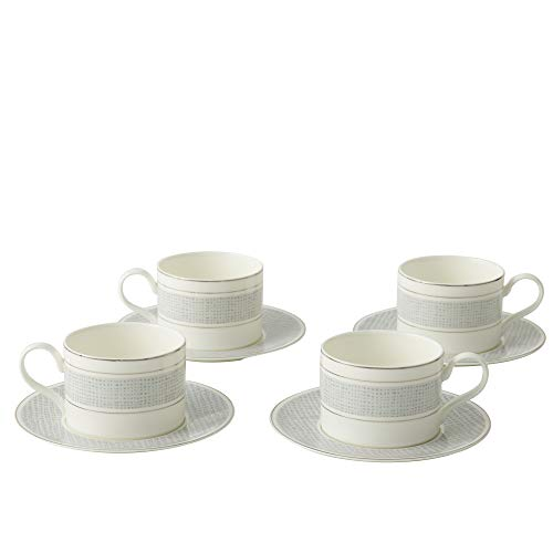 Amazon Brand - Umi Premium Porcelain Cup and Saucer Set Classic Pattern...