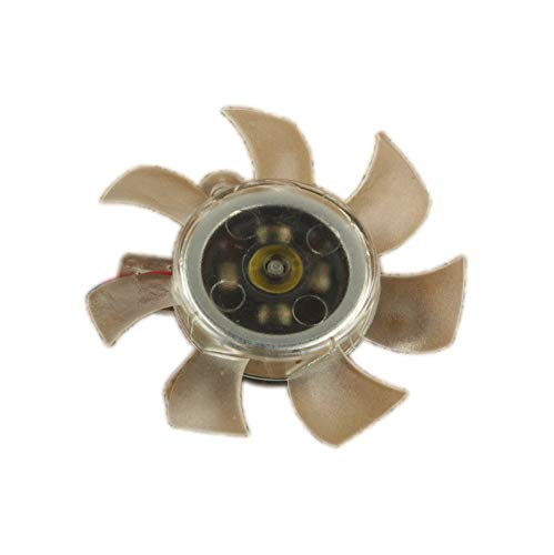 Ventilador de refrigeración para tarjeta VGA de 2 pines, 50 mm, distancia de tornillos: 27 x 27 x 27 mm