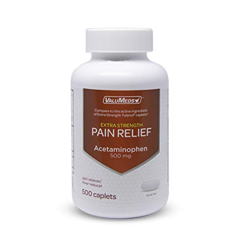ValuMeds Acetaminophen 500mg | 500 Caplets | Extra Strength Pain Relief