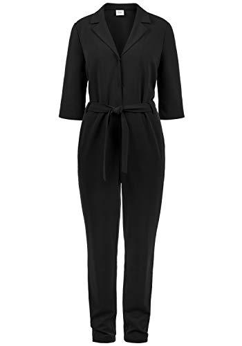 ONLY Jamila Jumpsuit Overall Einteiler Mit V-Ausschnitt Und Gürtel, Größe:S, Farbe:Black