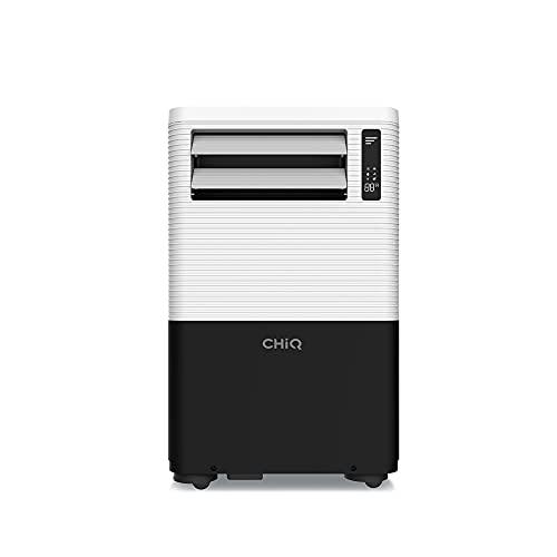 CHiQ Aire acondicionado Portátil 4 en 1 (Enfriamiento, Ventilación, Deshumidificador, Modo Noche), 9000 BTU|2280 frigorías, Kit Instalación Ventana, Silencioso, Ajuste Temperatura 16-32°, Gas R290