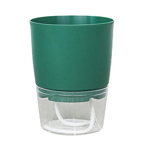 Maceta con absorción de Agua automática Perezosa sembradora de riego automático con contenedor de Agua Bonsai Planta hidropónica en Maceta jardín de casa