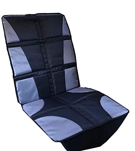 Protector de asiento de coche de cuero de lujo universal para niños o bebé cubierta de asiento de automóvil para bebé, protector de asiento, seguridad, anti resbalón, sin deslizamiento, negro, negro