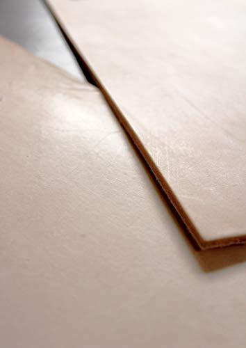Förster-Fellnest Zuschnitt-Auswahl: Kräftiges Blankleder, Dickleder, 4,3-4,5 mm dick! Punzierleder - pflanzlich gegerbt, für viele Projekte: Tasche, Köcher, Holster, Messerscheide usw.
