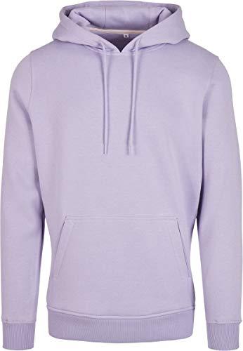 Build Your Brand Heavy Hoody Chaqueta, Morado (Lilac), XL para Hombre