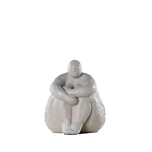 BANZINL Vendimia Humano Estatuillas, Estatua Decoración Abstracta Escultura De Arte Manualidades para El Hogar para Mesa-C