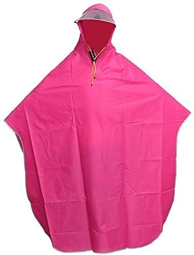 Shade Cloth Chubasquero Mujer Ciclismo Lluvia de Las Mujeres Poncho, Poncho de Ciclismo, Cortaviento con Capucha, Motos móvil de la Cubierta Impermeable SLZFLSSHPK (Size : Pink)