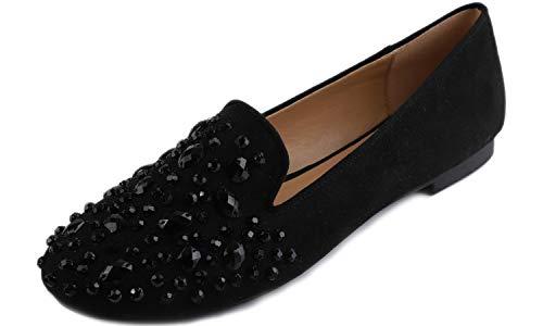 Feversole Round Toe Fashion Buckle Trim Women's Flat Shoes,Zapatos Planos de Mujer con Punta Redonda y Hebilla fantasía