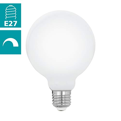 EGLO LM E27 LED-lamp, glas, 7 W, wit