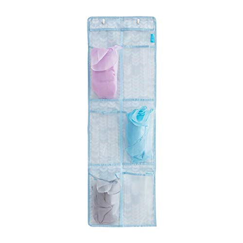 Gespout Sac de Rangement Suspendu Transparent Organisateur Porte Mur Placard Sacs Suspendus Cas avec 6 Poches Titulaire de Stockage Multifonctionnel pour Salon Chambre Cuisine Salle de Bains Bureau