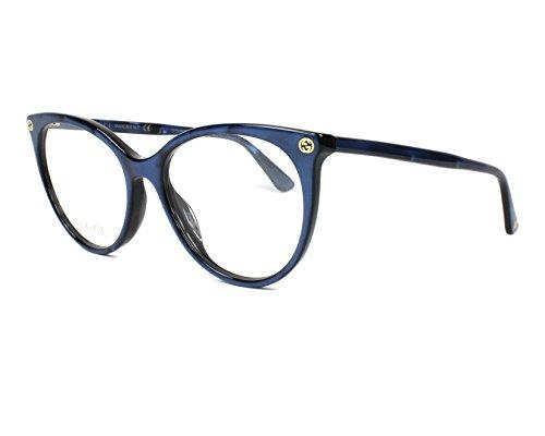 Gucci Unisex – Erwachsene GG00930-005-53 Brillengestell, Glitzer Blau, 53