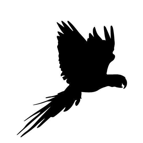 LGLGXR 14.9cmx15.7cm Patrón de decoración de Parrot Pegatina de automóvil Tronco de Coche Vinilo Vinilo (Color Name : Black)