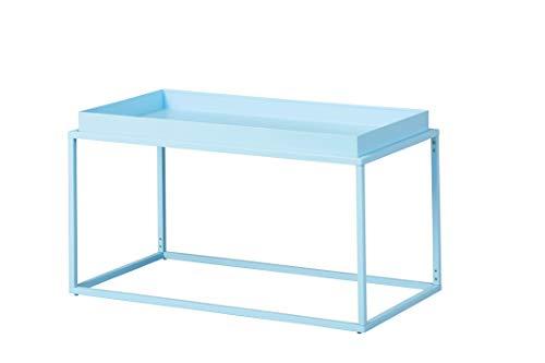 Inter Link Design Couchtisch im Industial Style Metall blau In & Outdoor geeignet